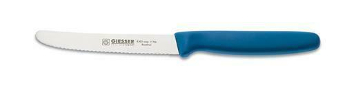 Giesser Messer Allzweckmesser 11 cm Klingenlänge mit Wellenschliff Azurblau 8365