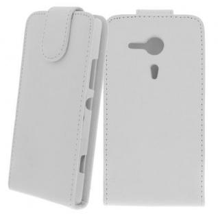 Für Sony Xperia SP / M35H WEIß - Kunstleder Tasche, Handytasche, Case, Hülle, Sch - Vorschau