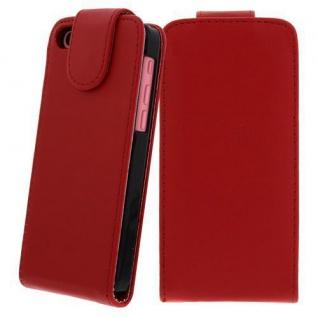 Für Apple iPhone 5C ROT - Kunstleder Tasche, Handytasche, Case, Hülle, Schutz, N