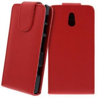 Für Sony Xperia P Handy Flip Case Tasche Hülle Schutz Rot