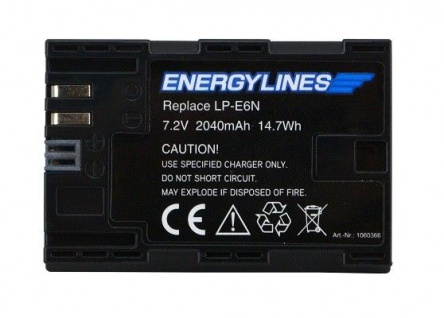 Akku accu battery für Canon LP-E6; LP-E6N; EOS 5D Mark II von ENERGYLINES Neu