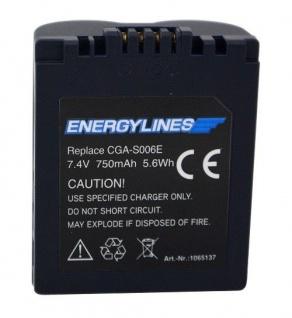 Akku Accu battery für Panasonic CGA-S006E; Leica BP-DC5-E von ENERGYLINES Neu