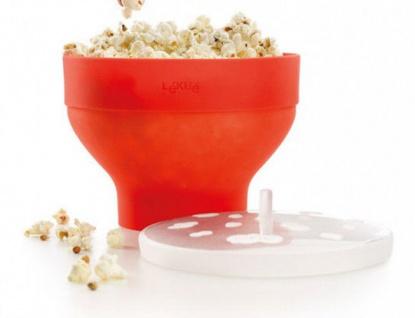 Lékué Popcornmaker Mikrowellenpopcorn Popcornzubereiter inkl.500g Seeberger Mais - Vorschau 2