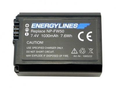Akku accu battery für Sony NP-FW50 mit Li-Ion von Energylines neu