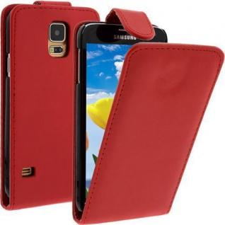Für Samsung Galaxy S5 / i9600 Rot Handytasche Tasche Hülle Etui Cover Schutz Neu