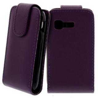 Für Samsung Galaxy Pocket GT-S5300 Handy Flip Case Tasche Hülle Schutz Lila