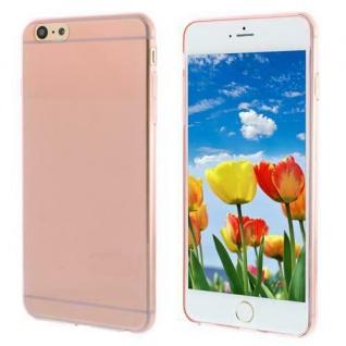 Silikon Case für Apple iPhone 6 PLUS - Transparent PINK - Cover Bumper Etui NEU