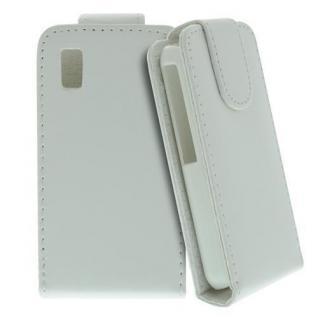 Für Samsung Star S5230 Handy Flip Case Tasche Hülle Schutz Weiss