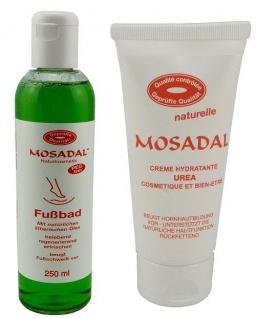 MOSADAL Creme Hydratante Urea 100ml mit Fußbad 250ml - Fußpflege vom feinsten