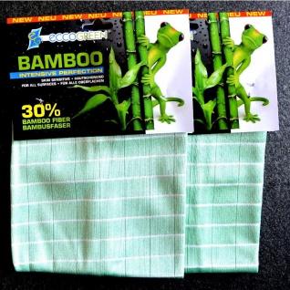eccoGREEN 2x Bambus Intensivtücher Reinigungstuch Striefenfrei Antibakteriell