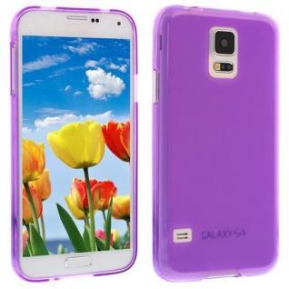 Für Samsung Galaxy S5 / i9600 LILA Silicon Case Hülle Etui Cover Bumper Schutz