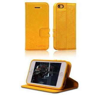 Handytasche für Apple iPhone 5c Gelb Etui Case Cover Hülle Smartphonetasche