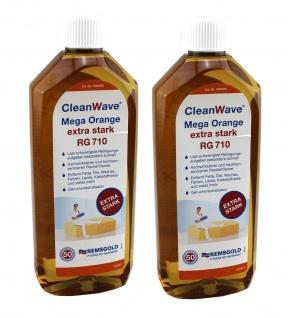 2x CleanWave Mega Orange extra stark RG 710 Löst schwierigste Reinigungsaufgaben