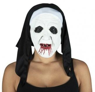 MKS Halloween Maske Kopf Über Scary Nonne 2 Latex - Schön schaurig und gruselig