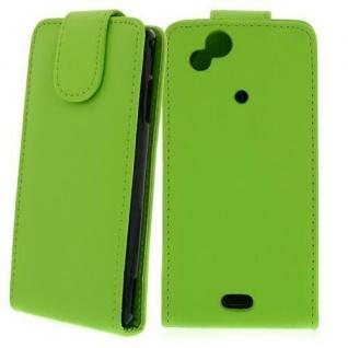 Für Sony Xperia Arc S/X12 GRÜN - Kunstleder Tasche, Handytasche, Case, Hülle