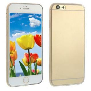 Silikon Case für Apple iPhone 6 Transparent Schwarz Cover Bumper Tasche Etui NEU