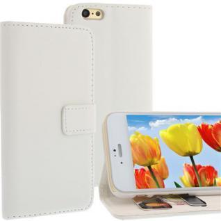 Bookstyle WalletCase für Apple iPhone 6 Weiß Kartenfach Magnetschnalle Standfkt.