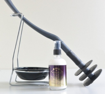 Mr Sanitär Dunkelgrau +Zubehör+ POPOPOO Toilettenspray, Lavendel-Vanille