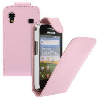 Für Samsung Galaxy Ace GT-S5830 Handy Flip Case Tasche Hülle Schutz Pink