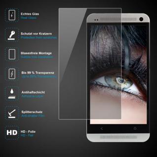 Premium Schutzglas 0, 3mm für HTC One M4 Echtes Glas, bis 99% transparent, Schutz