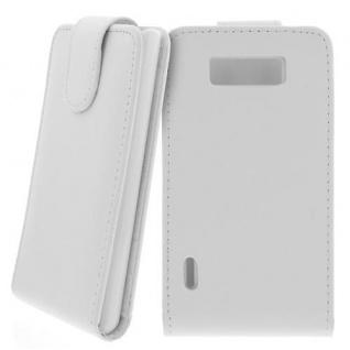 Für LG P700 Optimus L7 Handy Flip Case Tasche Hülle Schutz Weiss NEU