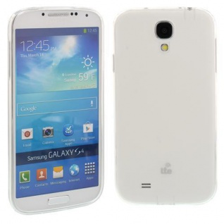 Silikon Case für Samsung Galaxy S4 / i9500 Transparent Weiß Etui Cover Bumper