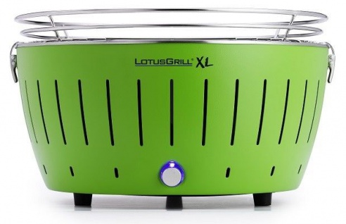 LotusGrill XL Limettengrün der raucharme Holzkohlegrill / Tischgrill grün NEU!