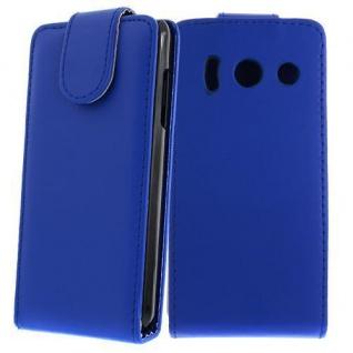 Für HUAWEI ASCEND Y300 Dunkel Blau - Kunstleder Tasche, Handytasche, Schale, Cov