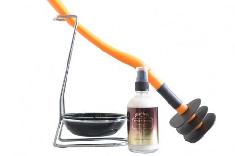 Mr Sanitär Orange +Zubehör + POPOPOO Toilettenspray Mango-Vanille Duft
