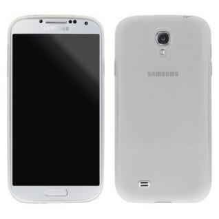 Silikon Case für Samsung Galaxy S4 Handy Smartphone Schützhülle Transparent Weiß