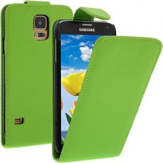Für Samsung Galaxy S5 / i9600 Grün Handytasche Tasche Hülle Etui Cover Schutz