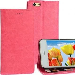 Bookstyle Case für Apple iPhone 6 pink Kartenfach Magnetverschluss Standfunktion