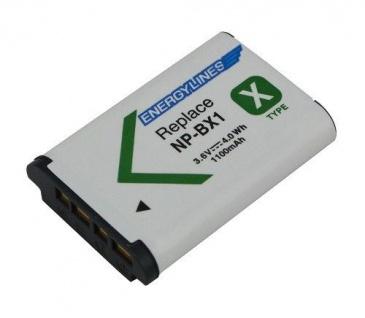 Akku Accu battery für Sony NP-BX1; HD-MV1; HDR-AS15; HDR-AS15B von ENERGYLINES