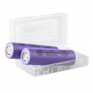 2er Set Batterien ZHUO NENG Cell 18650 2000mAh und 3, 7V Li-Ion, Aufbewahrungsbox
