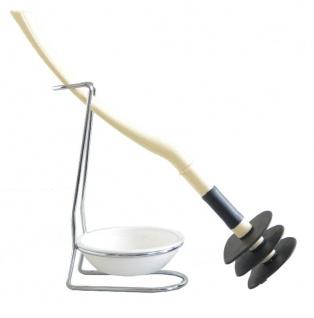 Mr Sanitär spez. Klo-/Toilettenbürste WC Garnitur Créme Silikonfrei Biegsam