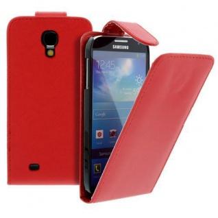 Für Samsung Galaxy S4/i9500 Handy Flip Case Tasche Hülle Rot Tasche