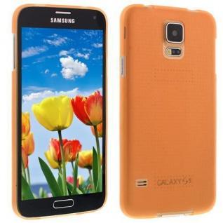 Für Samsung S5 i9600 ORANGE Slim TPU Case Cover Hülle Schale Schutzhülle Dünn!!