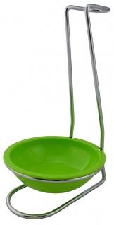 Mr. Sanitär Aufbewahrungsständer mit Untersetzer Limettengrün, Made in Germany!
