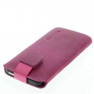 Für iPhone SE 5 5G Apple Handy ECHT LEDER Tasche/ Case / Etui/ Hülle Pink Antik