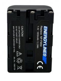 Akku accu battery für Sony NP-FM30; NP-FM50; NP-FM51; NP-QM50; NP-QM51 ENERGYLINES