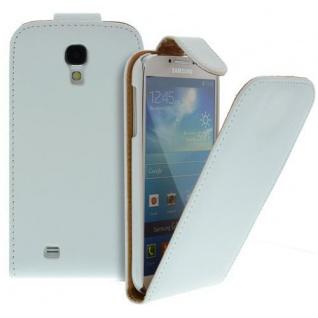 Für Samsung Galaxy S4/i9500 Handy Flip Case Tasche Hülle Weiss Tasche
