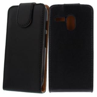 Für Motorola MOTO G Schwarz - Handytasche Case Cover Hülle Kunstleder Tasche Sch