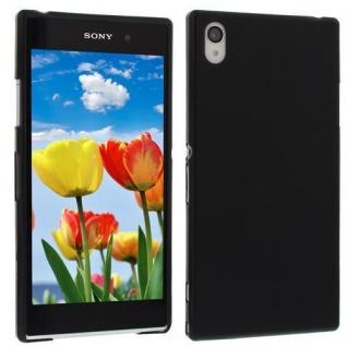 Für Sony Xperia Z1 L39H Schwarz TPU Case Cover Hülle Schale inkl.Schutzfolie NEU