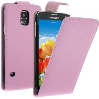 Für Samsung Galaxy S5 / i9600 ROSA Handytasche Tasche Hülle Etui Cover Schutz