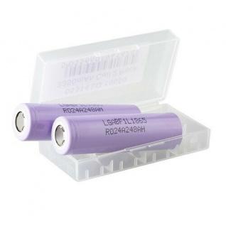 2er Set Batterien LG Cell 18650 mit 3350 mAh, Li-Ion mit Aufbewahrungsbox - Vorschau 2
