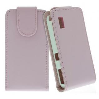 Für Samsung Star S5230 Handy Flip Case Tasche Hülle Schutz Pink