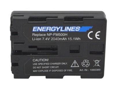 Akku accu battery für Sony NP-FM500H; Alpha a58; Alpha a99 von ENERGYLINES Neu
