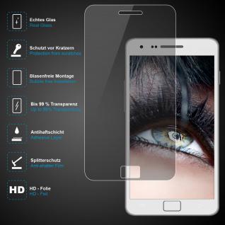 Premium Schutzglas für Samsung Galaxy S2, Echtes Glas, 0, 3mm, 99% transparent