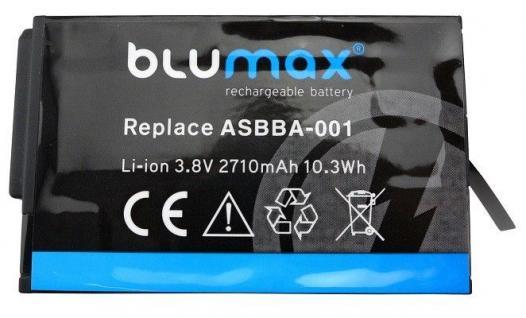 Akku accu battery für GoPro Fusion ASBBA-001 mit 3, 8V und 2710mAh von Blumax