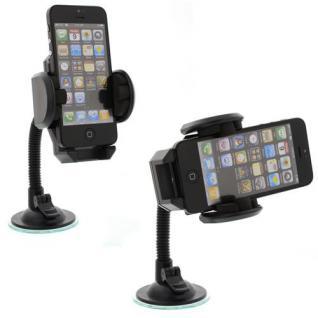 Universal KFZ Smartphone Halterung für Windschutzscheibe inkl Lüftüngshalterung